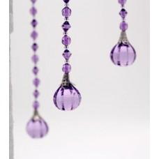 Acrylic Ball  Prism Hanging Garland - Purple