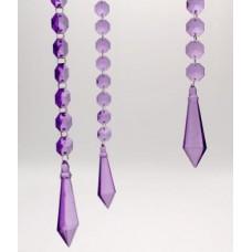 Acrylic Diamond Prism Hanging Garland - Purple