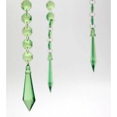 Acrylic Diamond Prism Hanging Garland - Green